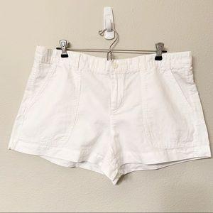 Gap Linen Cotton Blend White Shorts